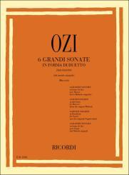 Ozi, Etienne: 6 große Sonaten in Duettform für 2 Fagotte, Spielpartitur