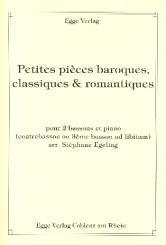 Petites pièces baroques. classiques et romantiques für 2-3 Fagotte und Klavier, Stimmen