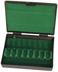 Plastic case for eight bassoon reeds
