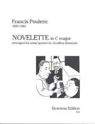 Poulenc, Francis: Novelette C major for wind quintet for flute, oboe, clarinet, horn and bassoon, parts