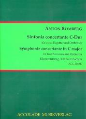Romberg, Anton: Sinfonie concertante C-Dur für 2 Fagotte und Orchester für 2 Fagotte und Klavier