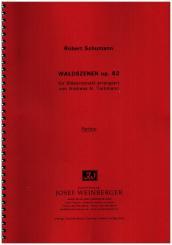 Schumann, Robert|Waldszenen für Flöte, 2 Oboen, 2 Klarinetten, 2 Hörner, 2 Fagotte und Kb ad lib, Partitur