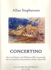 Stephenson, Allan: Concertino für 2 Fagotte und Orchester für 2 Fagotte und Klavier
