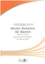 Telemann, Georg Philipp: 6 Sonaten im Kanon TWV: 118-123 für 2 Fagotte, Spielpartitur