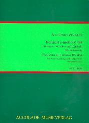 Vivaldi, Antonio: Konzert e-Moll RV484 für Fagott, Streicher und Cembalo für Fagott und Klavier